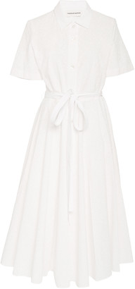Mansur Gavriel Belted Cotton Poplin Shirt Dress