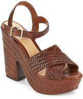 Schutz Women's Bob-Loo Woven Leather Platform Sandals