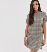Brave Soul Tall baylea shift dress in check