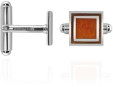 Forzieri Brown Sterling Silver Square Cuff Links
