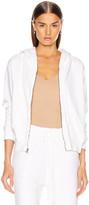 Nili Lotan Callie Zip Up Hoodie in Vintage White | FWRD