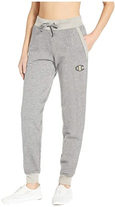 Champion Powerblend(r) Applique Joggers (Oxford Grey Heather/Oatmeal Heather) Women's Casual Pants