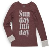 C&C California Girl's Sunday Funday Thermal Top