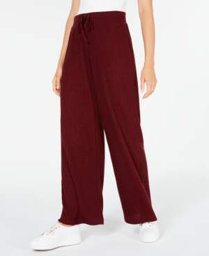 Hippie Rose Juniors' Ribbed Wide-Leg Soft Pants