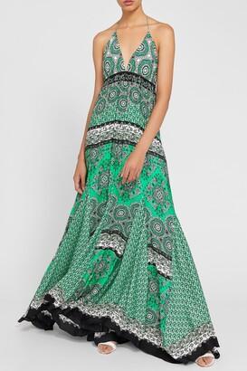 Alice + Olivia Alette Printed Halter Dress