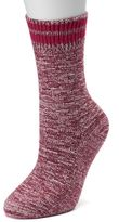 Cuddl Duds Women's Space Dyed Crew Socks