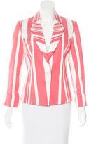 Carolina Herrera Striped Structured Blazer