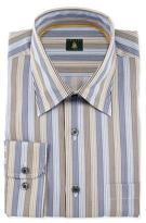 Robert Talbott Skinny-Striped Woven Dress Shirt, Teal