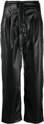 Twin-Set Cropped Faux-Leather Trousers