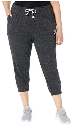 Nike Plus Size NSW Gym Vintage Capris (Black/Sail) Women's Casual Pants