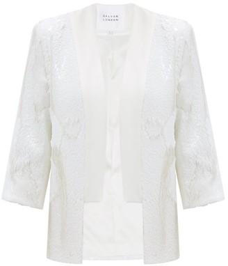 Galvan Cannes Sequinned Crepe Jacket - White