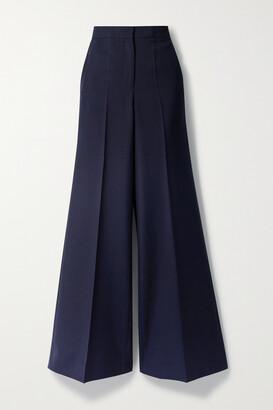 Victoria, Victoria Beckham - Woven Wide-leg Pants - Blue