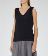 Reiss Star Shoulder-Detail Tank Top