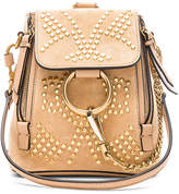 Chloé Mini Faye Constellation Studded Suede Backpack