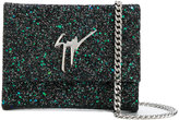 Giuseppe Zanotti Design Merry Sparkle glittered clutch - women - Leather/Polyester - One Size