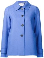 Harris Wharf London Pressed Wool Short Coat - Blue