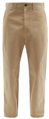 Studio Nicholson Tapered Cotton-twill Trousers - Mens - Beige