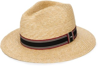 Saint Laurent Stripe Detail Panama Hat