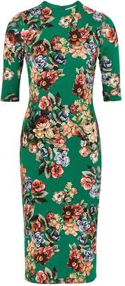 Alice + Olivia Delora floral-print stretch-jersey dress
