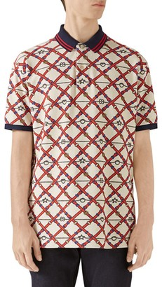 Gucci Belt-Print Polo