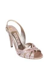 Gina 100mm Quincey Satin & Swarovski Sandals