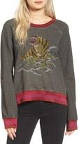 Pam & Gela Women's Embroidered Split Back Sweatshirt