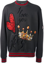 Dolce & Gabbana embroidered sweatshirt - men - Silk/Cotton/Polyester/Acetate - 48