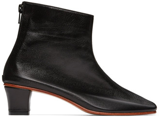 Martiniano Black High Leone Ankle Boots