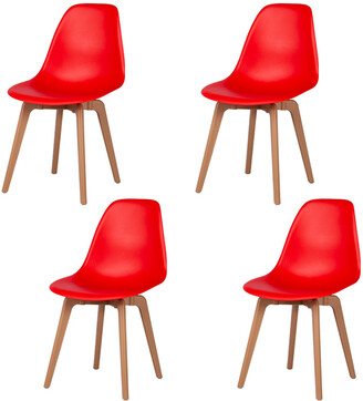 Set Of 4 Toppy Heron Dining Chairs
