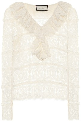 Gucci Floral-lace blouse