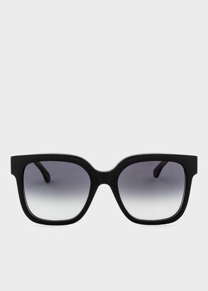 Paul Smith Black 'Delta' Sunglasses
