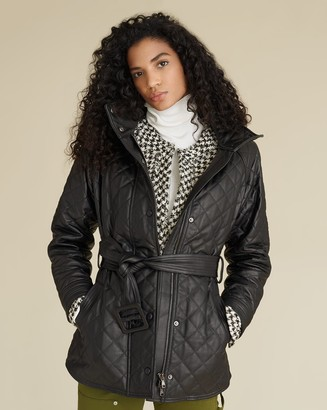 Veronica Beard Bonny Quilted Leather Coat