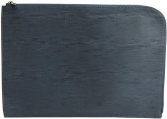 Louis Vuitton Indigo Epi Leather Pochette Jour GM Wallet