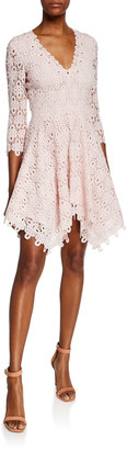 Jonathan Simkhai Guipure Lace V-Neck Dress