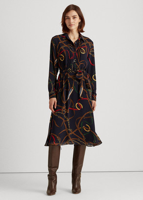 Ralph Lauren Print Georgette Shirtdress