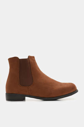 Ardene Faux Suede Chelsea Booties - Shoes |