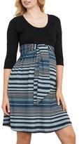 Maternal America Women's Scoop Neck Maternity Dress