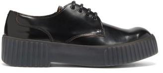 Acne Studios Bentigo Exaggerated-sole Leather Derby Shoes - Black Grey