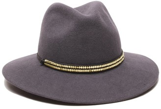 Ale By Alessandra Women's Metallica Adjustable Felt Hat with Metal Trim