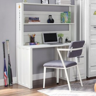 Medau Desk with Hutch and Chair Set Breakwater Bay Color: White