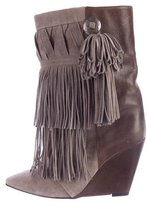Isabel Marant Fringe Mid-Calf Boots