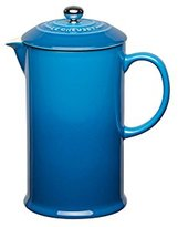 Le Creuset Stoneware Cafetiere with Metal Press, 750 ml - Marseille Blue