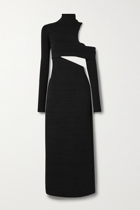 Proenza Schouler Cold-shoulder Cutout Stretch-knit Maxi Dress - Black