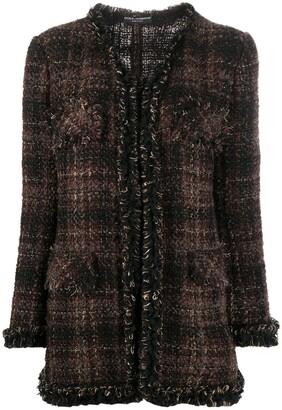 Dolce & Gabbana Checked Tweed Jacket