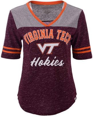 Colosseum Women Virginia Tech Hokies Mr Big V-neck T-Shirt