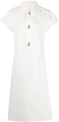 Bottega Veneta Sculptural Button Dress