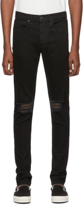 Rag & Bone Black Fit 1 Holes Jeans