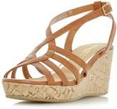 Head Over Heels *Head Over Heels by Dune Tan 'Kimmi' Wedge Sandals