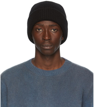 The Elder Statesman Black Watchman Beanie