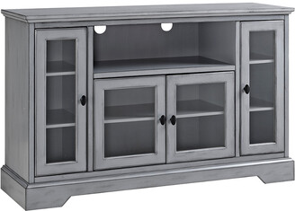 Hewson 52In Transitional Glass Wood Tv Stand
